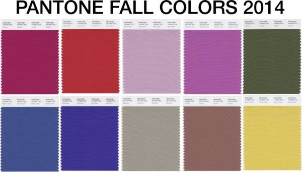 PANTONE® Fall Colors 2014 - My Brand New Image