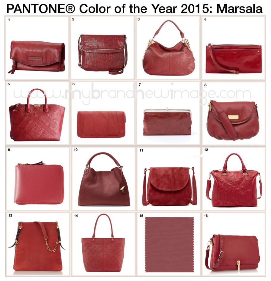 Bags in PANTONE Marsala -  www.mybrandnewimage.com