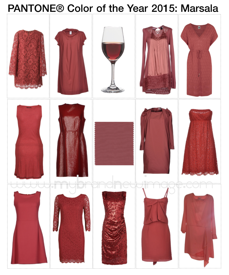 Dresses in Marsala: Pantone Color of the Year 2015 -  www.mybrandnewimage.com