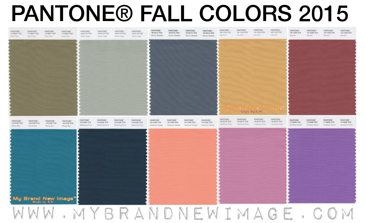 Pantone fall colors 2015 fashion report my brand new for Fall clothing colors 2016